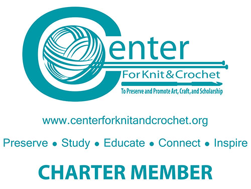 CKC Charter Member bag artwork: teal printed on a white medium size eco-friendly non woven tote bag.