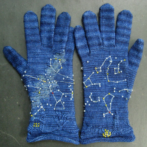 "Meredith Wills' ""Starry Night"" Gloves"