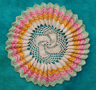 A doily crocheted by Horace Callaway.