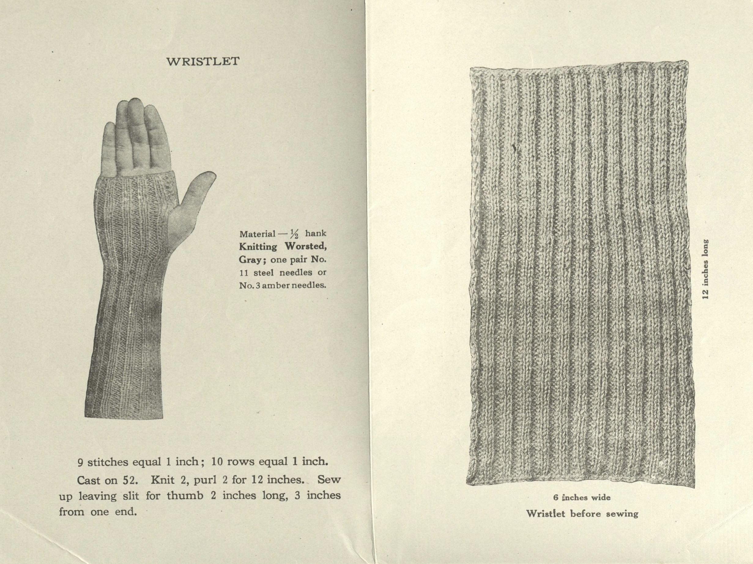 Patterns from Knitted Comforts for Our Men in Naval Service. 1917. Winterthur Rare Books Collection. Winterthur Museum, Gardens, and Library.