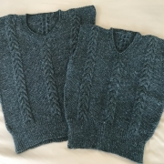 Knit Cabled Vests in the CKC crowdsourced collection